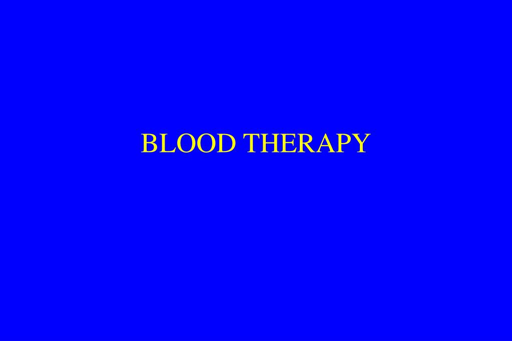 blood therapy l.