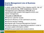 grants management line of business overview