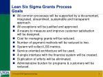 lean six sigma grants process goals