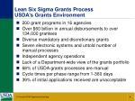lean six sigma grants process usda s grants environment
