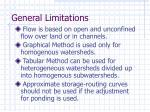 general limitations