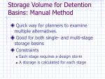 storage volume for detention basins manual method
