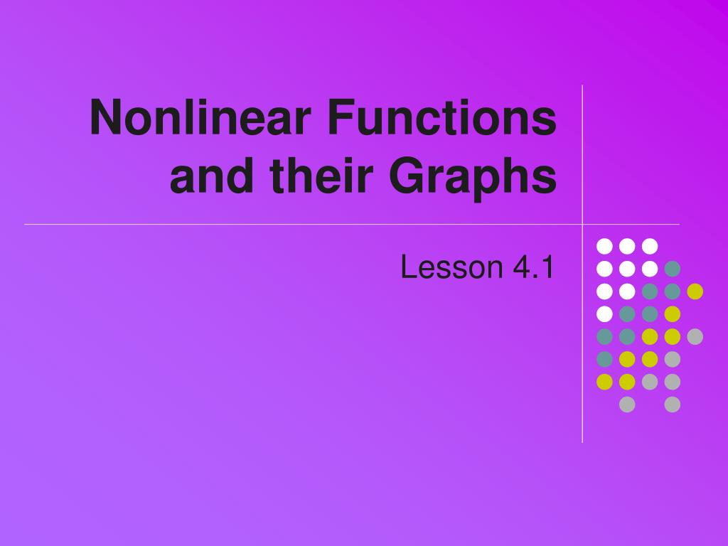 nonlinear functions and their graphs l.