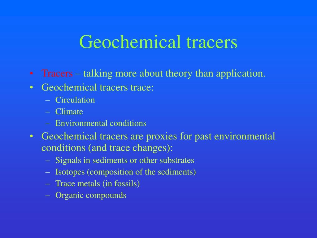 geochemical tracers l.