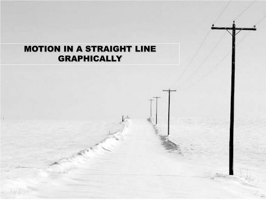 motion in a straight line graphically l.