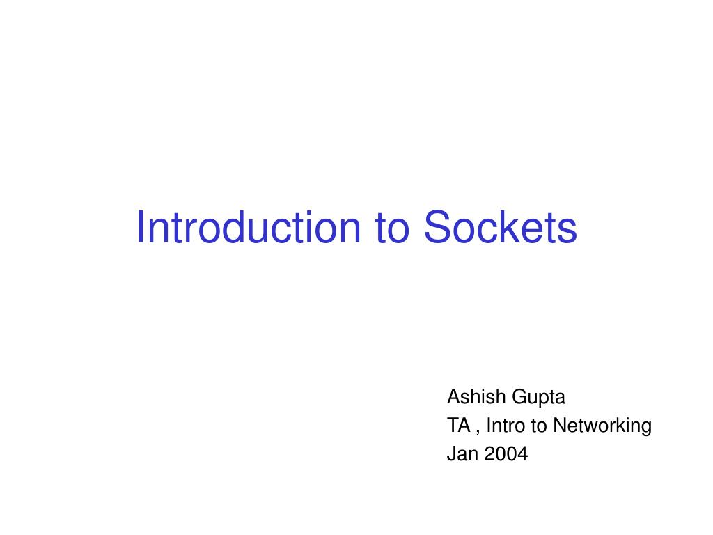 introduction to sockets l.