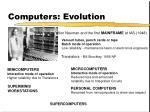 computers evolution