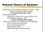 general theory of systems