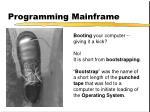 programming mainframe