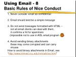using email 8 basic rules of nice conduct
