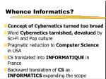 whence informatics