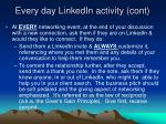 every day linkedin activity cont
