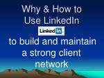 why how to use linkedin