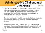 administrative challenges turnaround
