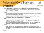 automated core business systems