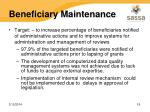 beneficiary maintenance