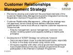 customer relationships management strategy