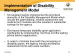implementation of disability management model