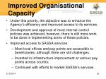improved organisational capacity