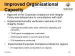 improved organisational capacity22