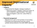 improved organisational capacity23