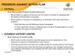 progress against action plan52