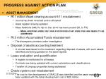 progress against action plan53
