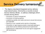 service delivery turnaround