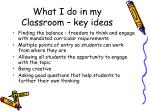 what i do in my classroom key ideas