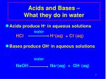 acids and bases what they do in water