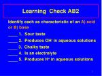 learning check ab2