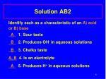 solution ab2
