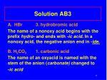 solution ab3