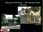 bicycle parking on street bike corrals