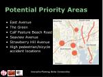 potential priority areas