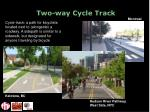 two way cycle track