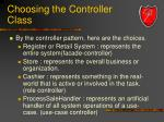 choosing the controller class35