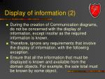 display of information 2
