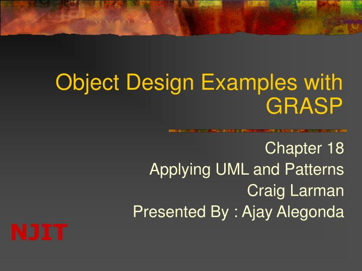 object design examples with grasp n.