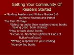 getting your community of readers started