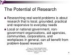 the potential of research5