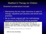 modified ci therapy for children