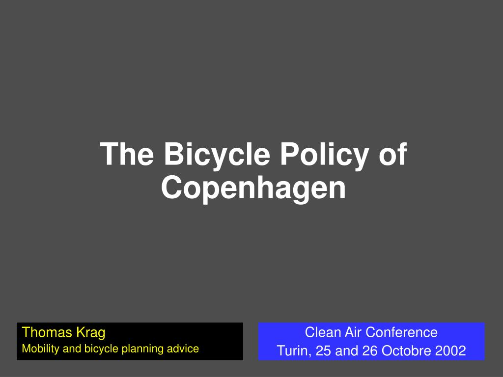 the bicycle policy of copenhagen l.
