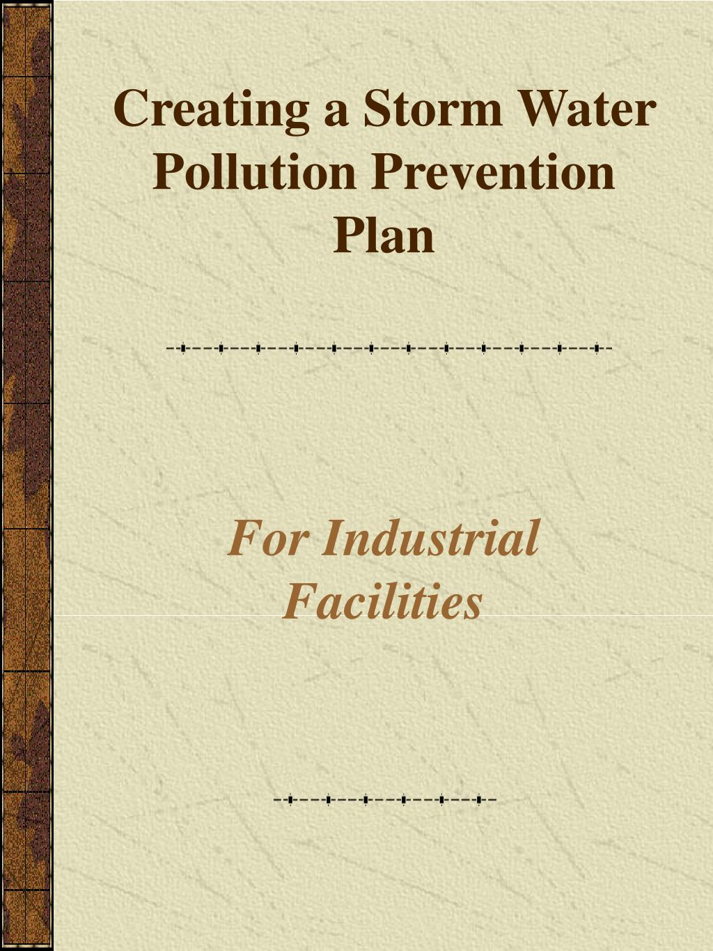 creating a storm water pollution prevention plan l.