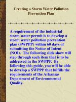 creating a storm water pollution prevention plan2