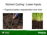 nutrient cycling lower inputs16