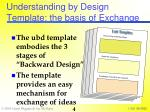 understanding by design template the basis of exchange