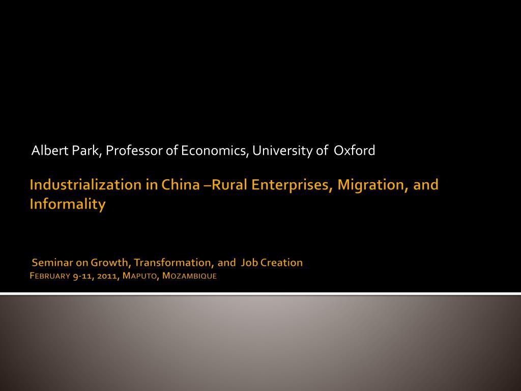 albert park professor of economics university of oxford l.