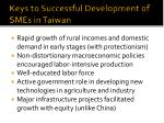 keys to successful development of smes in taiwan