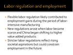 labor regulation and employment